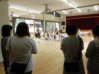 きりん組の組体操練習を見学。