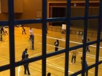 バレーボール大会。2Fの踊り場から撮影