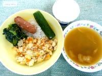 12.27炒り玉豆腐丼