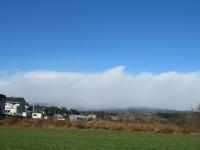 赤城山に厚い雲がかかって…